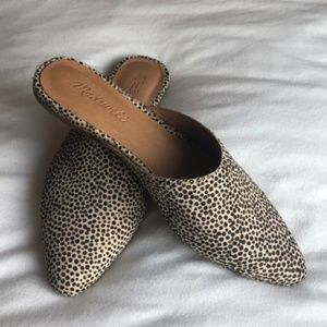 Madewell Leather Calf Hair Remi Mule 7.5